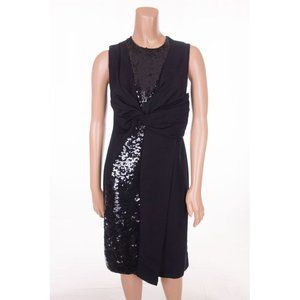 EMILIO PUCCI New 38 4 S Black Sequin Evening Dress